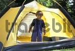 Thumbnail Two-year-old boy in a tent MR