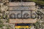 Thumbnail sign in Karwendel Alps in Tyrol - Austria