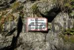 Thumbnail a prohibition sign in the Alploch canyon - Dornbirn, Vorarlberg, Austria, Europe.