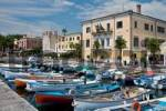 Thumbnail rowboats in the harbour of Bardolino, Lake Garda, Italy