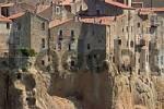 Thumbnail houses of the city of tuff Pitigiliano, Tuscany, Italy