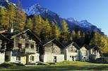 Thumbnail old farmhouses at Borgonovo, Val Bregaglia, Bergell, Switzerland