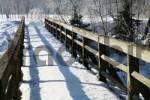 Thumbnail walking bridge with snow