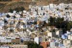 Thumbnail Vista of many colourful houses of the medina Chefchaouen Morocco