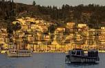 Thumbnail fishingboats in the harbour of Poros, saronian islands Greece