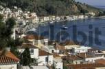 Thumbnail harbour of Poros with Flying Dolphin, saronian islands, Greece