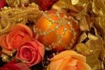 Thumbnail Ornate Christmas ornaments and artificial flowers