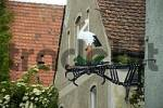 Thumbnail Iron made restaurant sign with a stork Ingolstadt Bavaria Germany