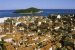Thumbnail Dubrovnik south Dalmatia Croatia from the city wall over the old town to the island Lokrum