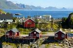 Thumbnail Scattered red wooden houses Hamnoya Moskenesoya Lofoten Norway