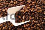 Thumbnail Coffee beans and white scoop filling entire image