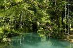 Thumbnail Jungle and turquoise blue water Paradise River near Vang Vieng Laos