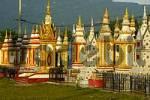 Thumbnail Many colourful stupas monastery Wat Tham Fai Pakse Laos