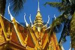 Thumbnail Artful roof of monastery Wat Andri Kompong Thom Cambodia