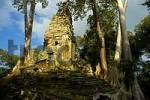 Thumbnail Khmer temple Preah Palilay grown in big trees Angkor Thom Siem Reap Cambodia