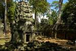 Thumbnail Picturesque decayed Khmer temple in the jungle Ta Prohm Angkor Siem Reap Cambodia