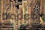 Thumbnail Fine reliefs with Apsera temple dancers Banteay Srei Angkor Siem Reap Cambodia