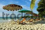 Thumbnail Umbrellas white sandy beach and blue sea Ao Hin Khok Beach Ko Samet Thailand