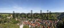 Thumbnail View of castle and town centre, Pottenstein, Franconian Switzerland, Bavaria, Germany, Europe