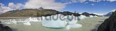 Thumbnail Icebergs in Logo Grey, Torres del Paine National Park, Patagonia, Chile, South America