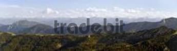 Thumbnail Mountain panorama viewed from the Blauberg ridge, Tirol, Austria, Europe