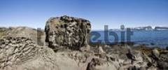 Thumbnail bizarre Felsformationen an der Küste, Westfjorde, Island