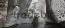 Thumbnail Rocks reflected in a pond in Vetlahelvete Cave, Aurlandsdalen Valley, Norway, Scandinavia, Europe