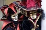 Thumbnail Harlequin court jester costume and elegant lady, Carnevale di Venezia, Carneval in Venice, Italy