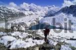 Thumbnail Woman ascending Gokyo Ri Nepal
