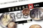 Thumbnail Electricity meter and Euro coins: rising electricity costs