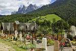 Thumbnail cemetery in St Peter in the Vilnöß valley South Tyrol Italy