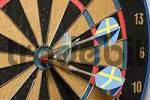 Thumbnail aim or target with dart arrows