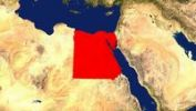 Thumbnail Map, Egypt highlighted red