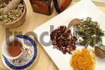 Thumbnail yarrow, calendula, nettle and fruit tea, type of teas