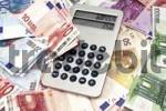 Thumbnail Euro notes and calculator: symbolic picture for currency conversion, calculation