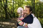 Thumbnail Father and his three-year-old daughter, hugging