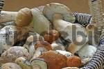 Thumbnail Fresh collected mushrooms Boletus edulis, Boletus testaceoscaber in a basket