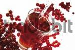 Thumbnail Glass of red currant juice and fresh currants