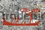 Thumbnail Vikings in a ship, rock painting, rock art at Alta, Norway, Scandinavia