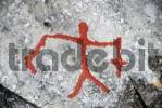 Thumbnail Stick figure man, rock painting, rock art at Alta, Norway, Scandinavia