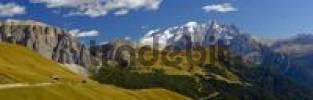 Thumbnail Pass road and Marmolata Massif, Passo Sella Sella Pass, Bolzano-Bolzen, Italy