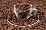 Thumbnail Coffee beans in a glass espresso cup