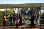 Thumbnail Tourists at the Iguazu Waterfalls Argentina Brazil