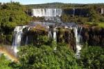 Thumbnail Cascades with rainbow Iguazu Waterfalls Argentina Brazil