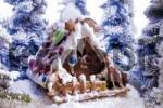 Thumbnail Gingerbread house in an artificial winter landscape