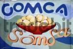 Thumbnail Somsa advertising poster, hand painted, Uzbekistan, Central Asia
