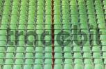 Thumbnail empty plastic seats in sports stadium