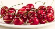 Thumbnail cherries on a plate