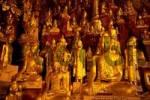 Thumbnail Many golden Buddha statues in Pindaya Cave Shan State Burma