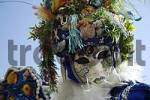 Thumbnail Portrait of mermaid mask at carneval in Venice, Italy